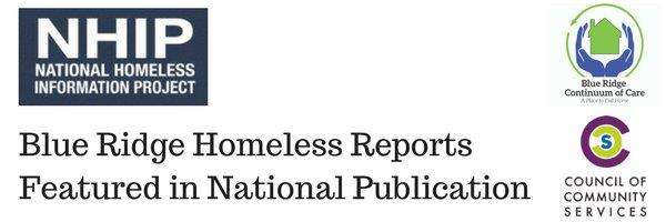 Blue Ridge Homeless Reports Featured in National Publication